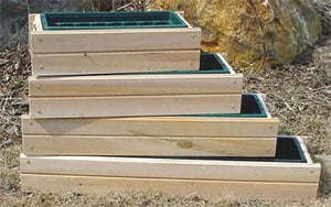 Cedar Window Boxes Series 550 - with insert and wood brackets