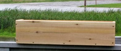 Plain Front  Cedar Window Box