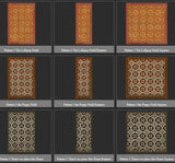 Vintage Vinyl Floor Cloths by Spicher - Pattern 03 (7 Color Choices)