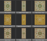 Vintage Vinyl Floor Cloths by Spicher - Pattern 38 (12 Design Choices)