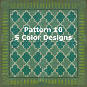 Vintage Vinyl Floor Cloths Pattern 10 (5 color choices)