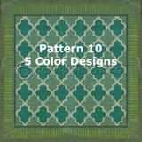 Vintage Vinyl Floor Cloths BY Spicher - Pattern 10 (5 color choices)