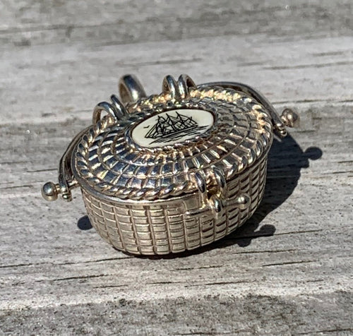 Nantucket Basket Charm - STERLING SILVER