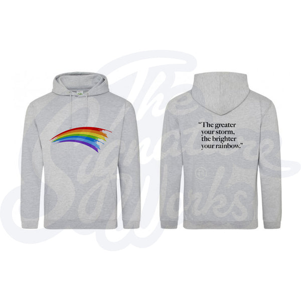 Adult Rainbow Hoodies - Quote