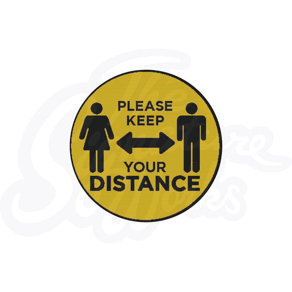 Social Distancing Floor Markers (Pack of 10)