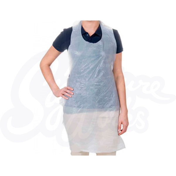 **NOW HALF PRICE!!** Disposable Polythene Aprons (Box of 600)