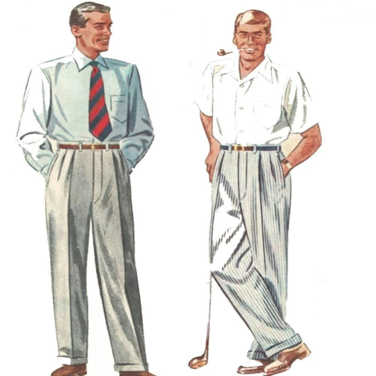 Vintage Sewing Patterns - Men & Boy's Pants Patterns