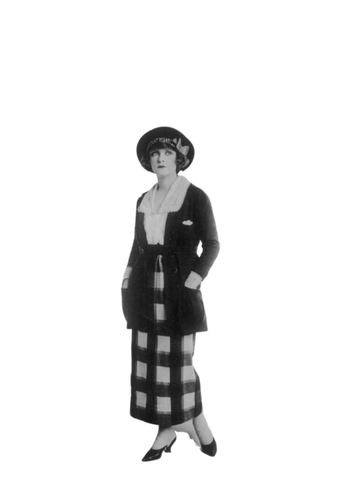 1920s woman wearing a sports suit.