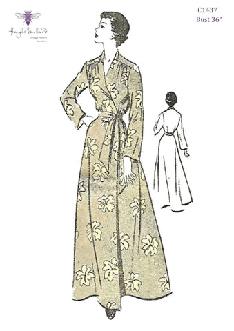1940's Robe Sewing Pattern