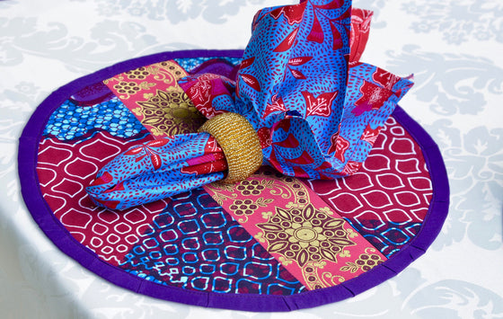 Violet Rose & Indian Brocade Charger (Set of 4)