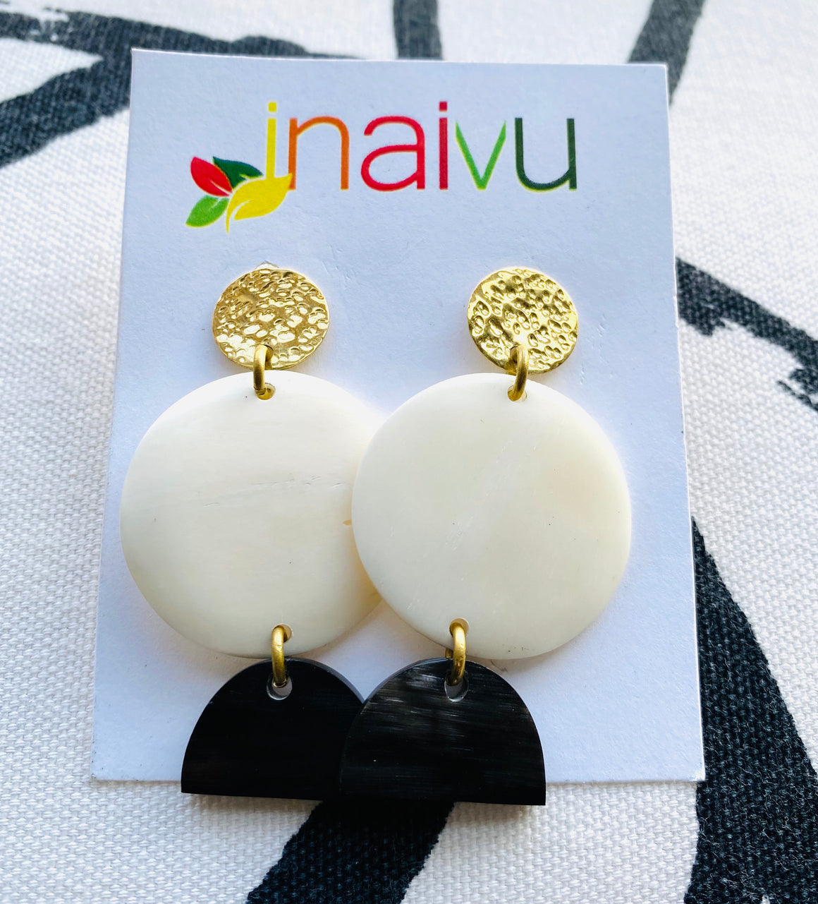 Bone Tear Drop Earrings