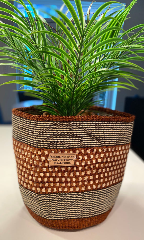Planter Basket- Polka Dots