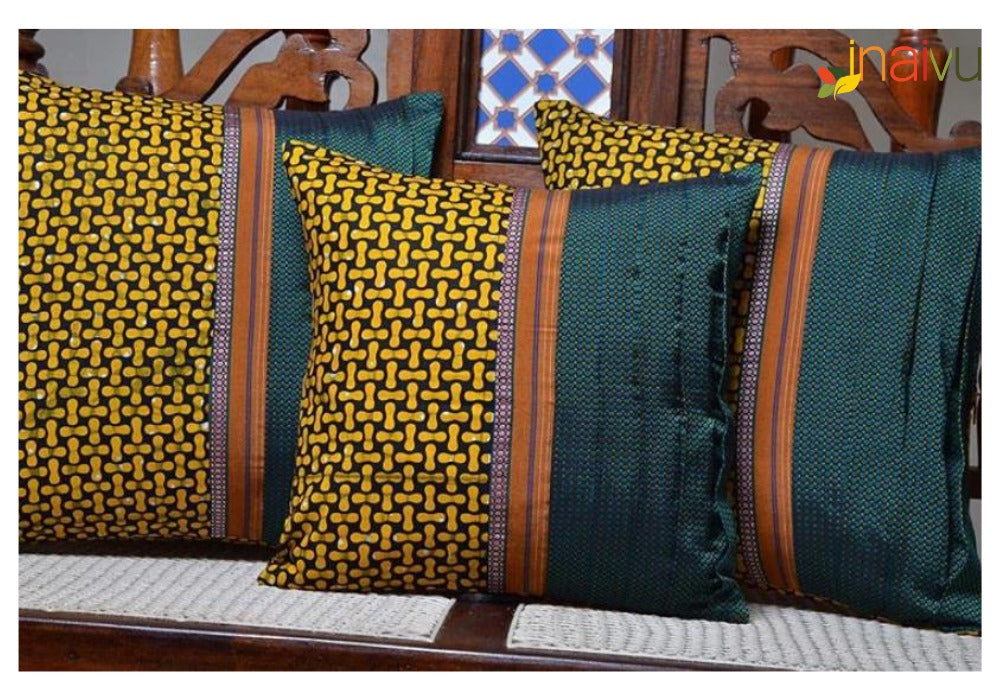 Mustard Yellow African Fusion Accent Pillow
