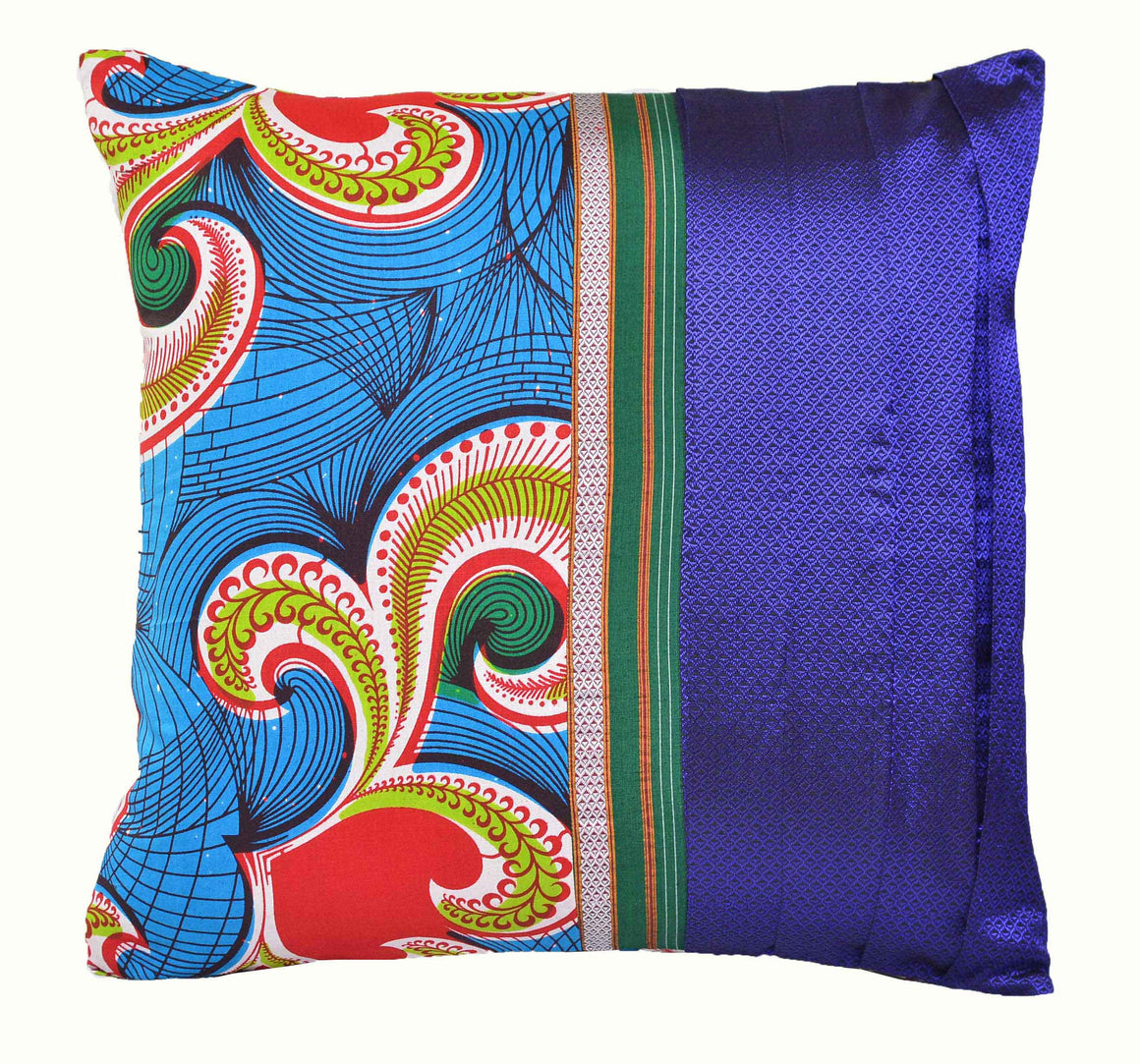 Purple African Fusion Accent Pillow - INAIVU,LLC