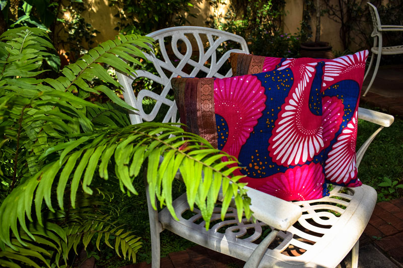 Fuchsia African Fusion Accent Pillow