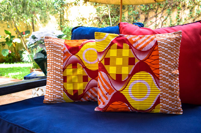 MultiColor African Fusion Accent Pillow - INAIVU,LLC