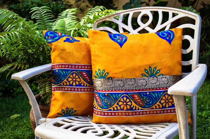 Yellow Hibiscus Accent Pillow - INAIVU,LLC