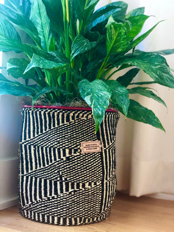 Planter Baskets- Black and White