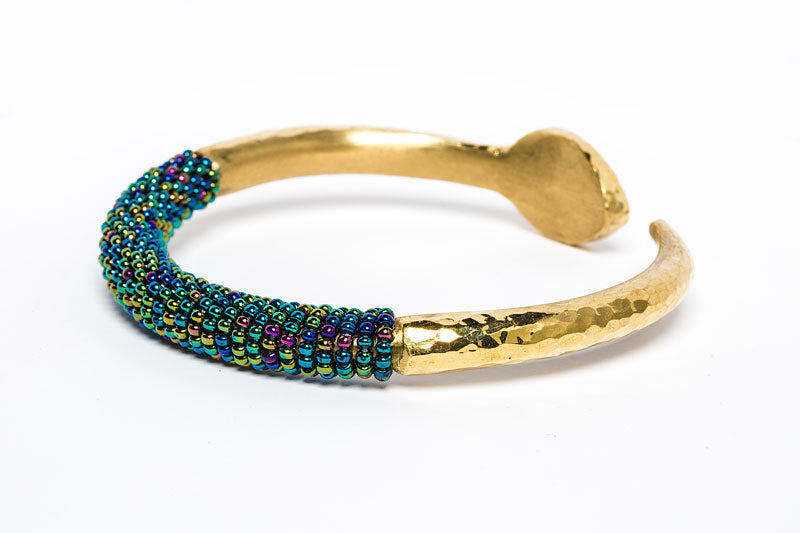 Beaded Bangle- Chameleon