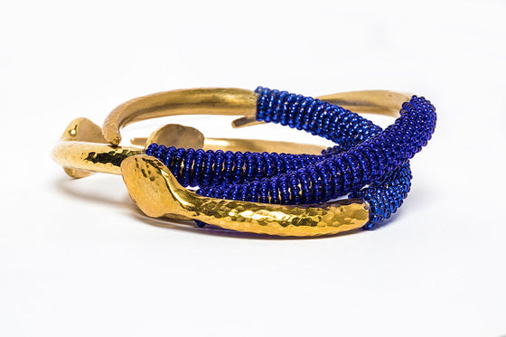 Beaded Brass Bangle