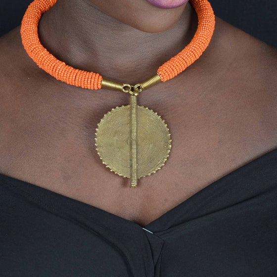 Enjipai Necklace - Light Orange
