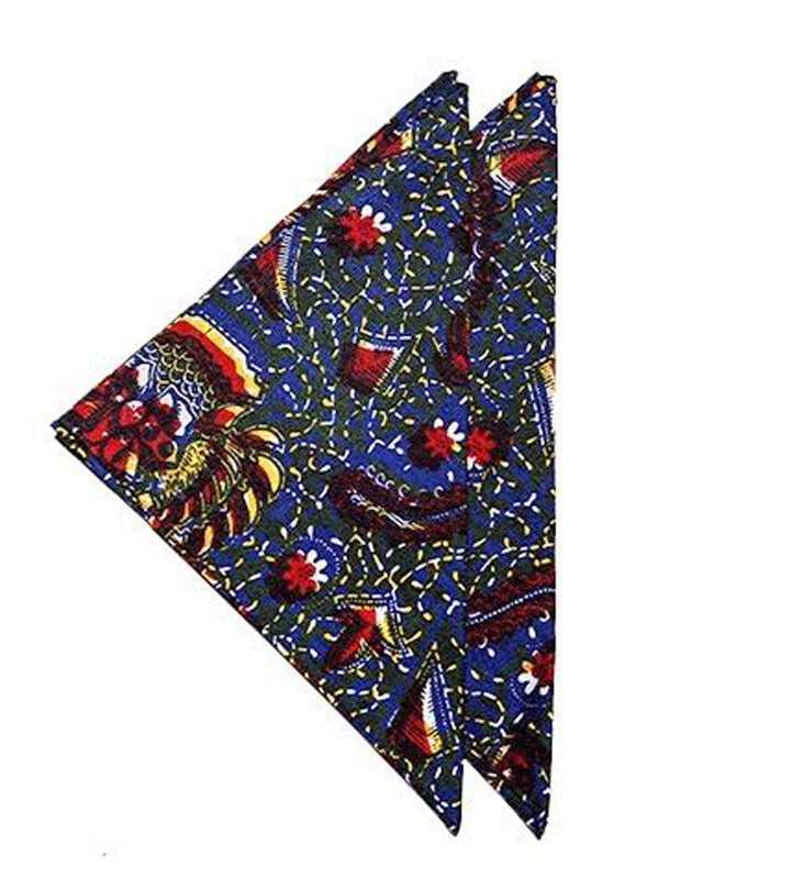 Red Silk African Fusion Placemats(set of 6) - INAIVU,LLC