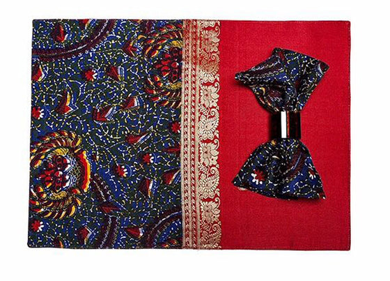 Red Silk African Fusion Placemats(set of 6)