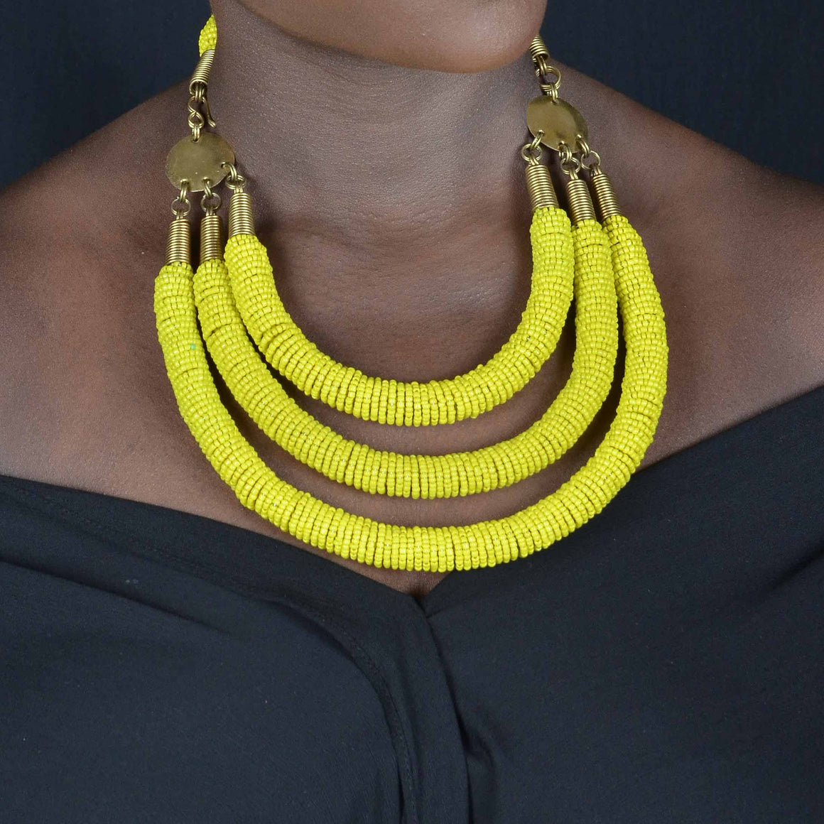 Enjipai Triple Necklace - INAIVU,LLC