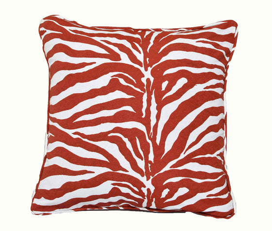 Zebra  Print Accent Pillow