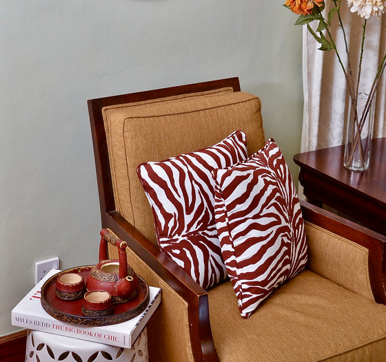 Zebra  Print Accent Pillow - INAIVU,LLC