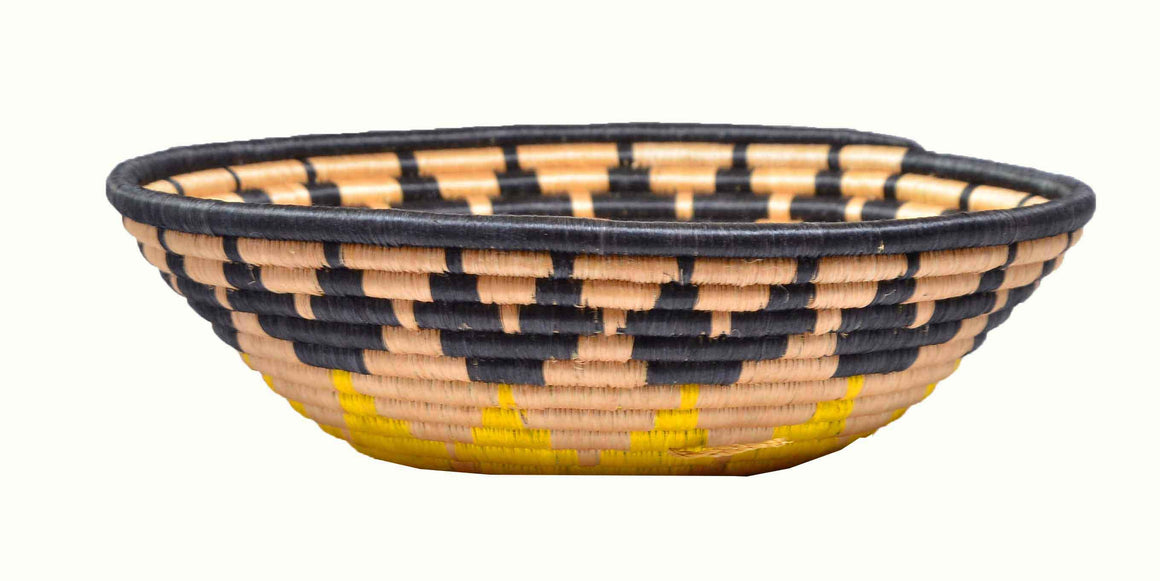 Handwoven  Fruit Basket-Tan - INAIVU,LLC