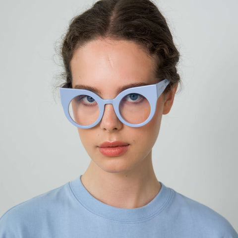 CURIOUS Baby Blue Computer Glasses Model