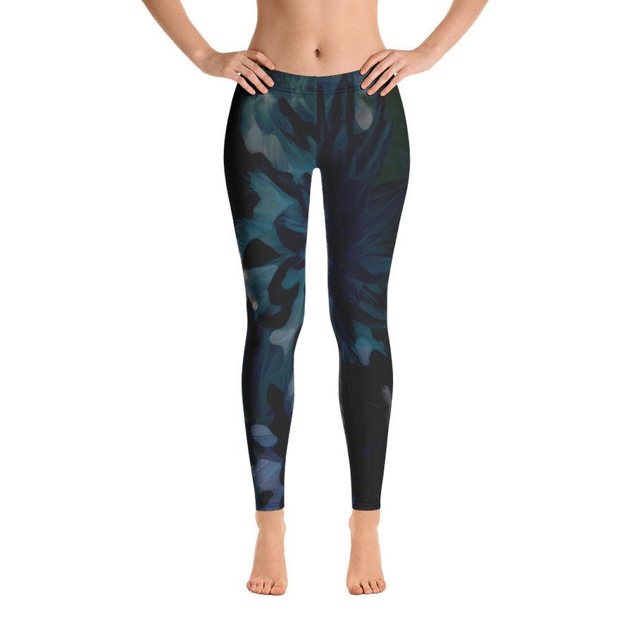 Botanic Print Full Length Leggings - Rebecca J Mills
