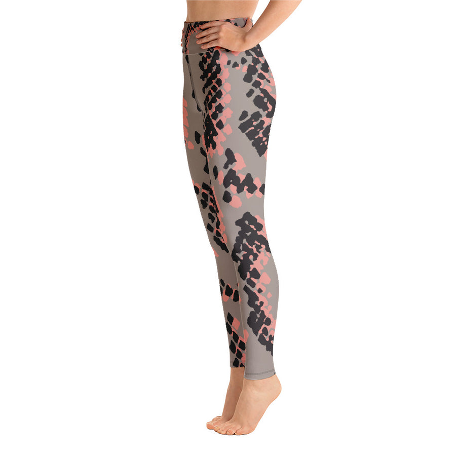 Scaled Animal Print Yoga Leggings - Rebecca J Mills