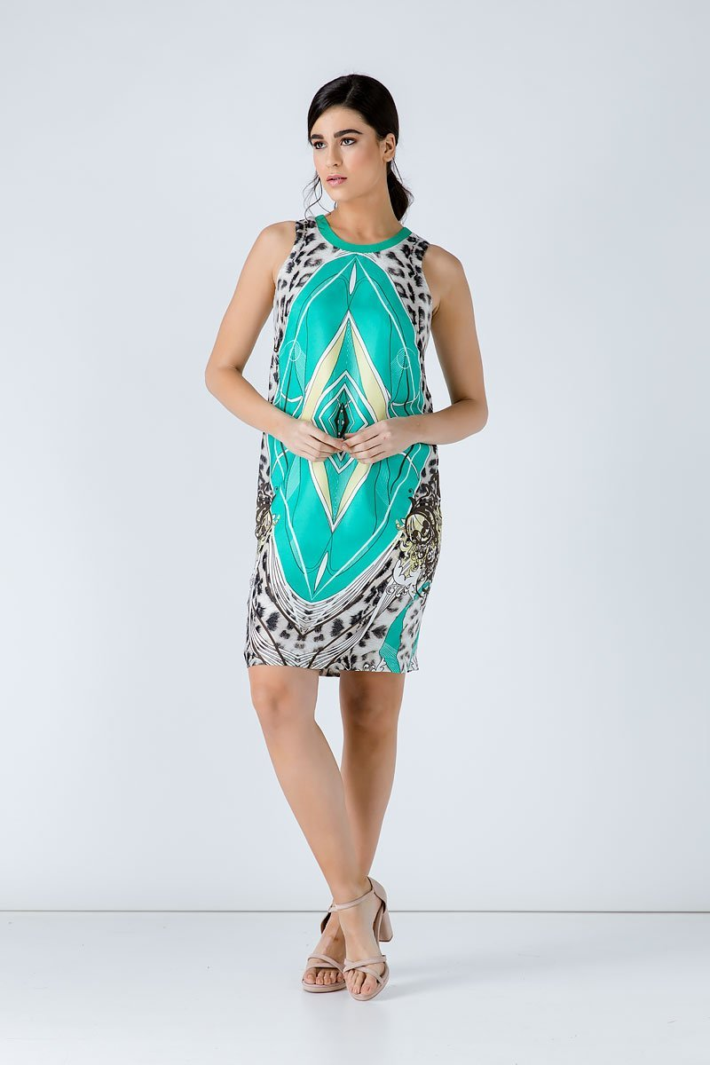 Animal Print Sleeveless Dress - Conquista Fashion - The Clothing LoungeConquista Fashion