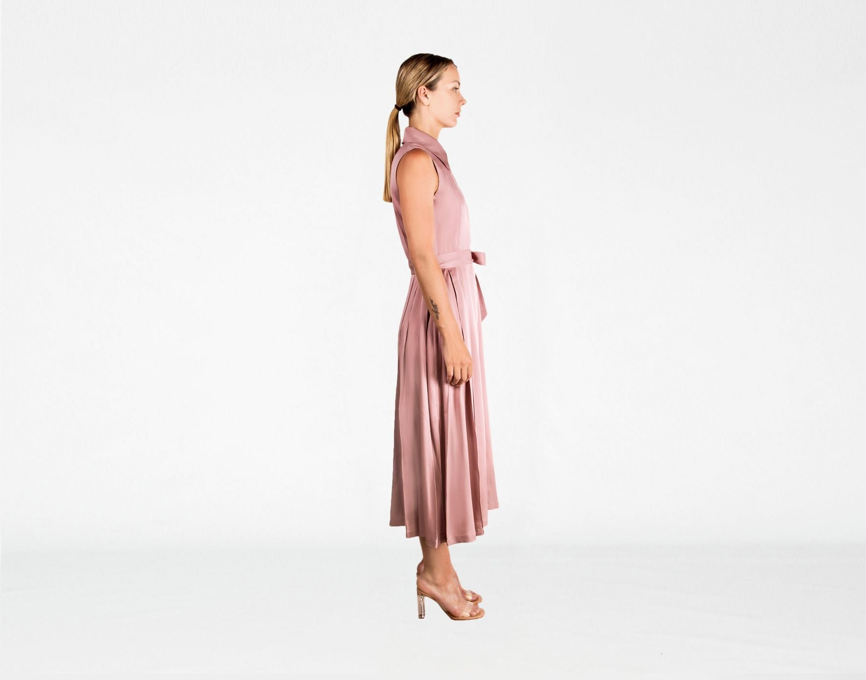 ASH ROSE SILK & COTTON DRESS - The Clothing LoungeSHOPYTE