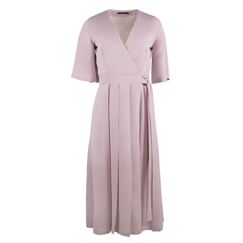ASH ROSE SILK & WOOL DRESS - The Clothing LoungeSHOPYTE