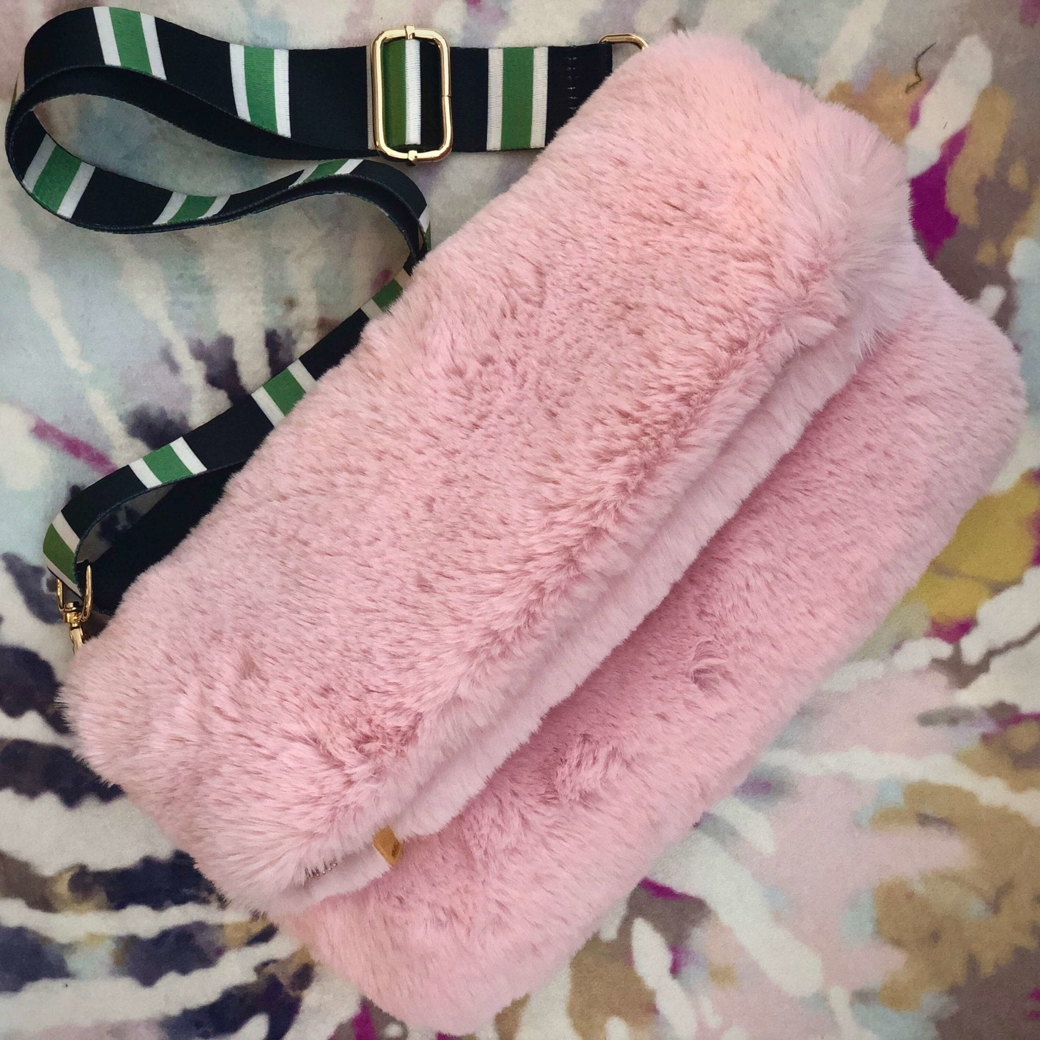 Baby Pink Faux Fur Bag - The Clothing LoungeRebecca J Mills