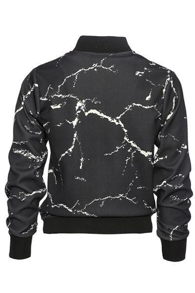Calcium Carbonate Black Bomber Jacket - The Clothing LoungeDear Deer