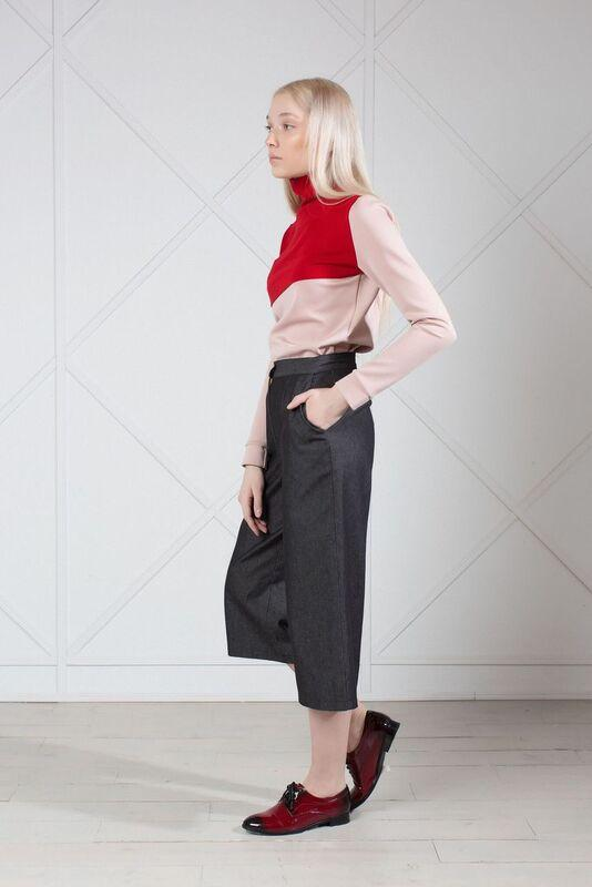 Gray denim culottes - The Clothing LoungeMuza