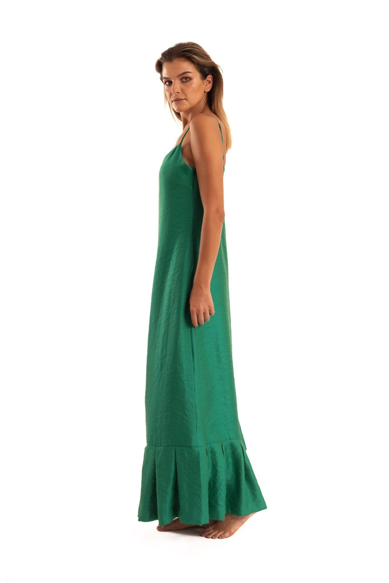 Green Slip Dress - NOPIN - The Clothing LoungeNOPIN