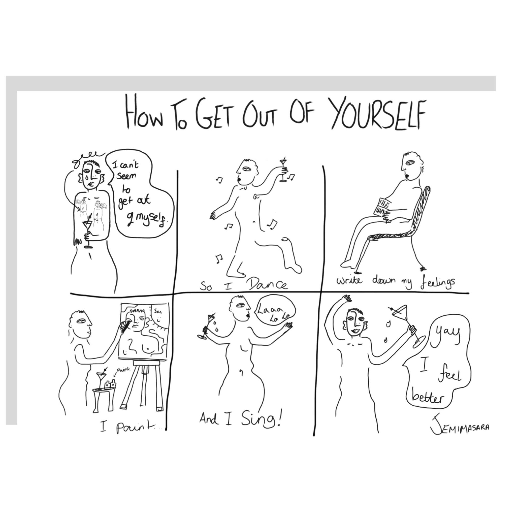 How To Get Out Of Yourself Print - The Clothing LoungeJEMIMASARA