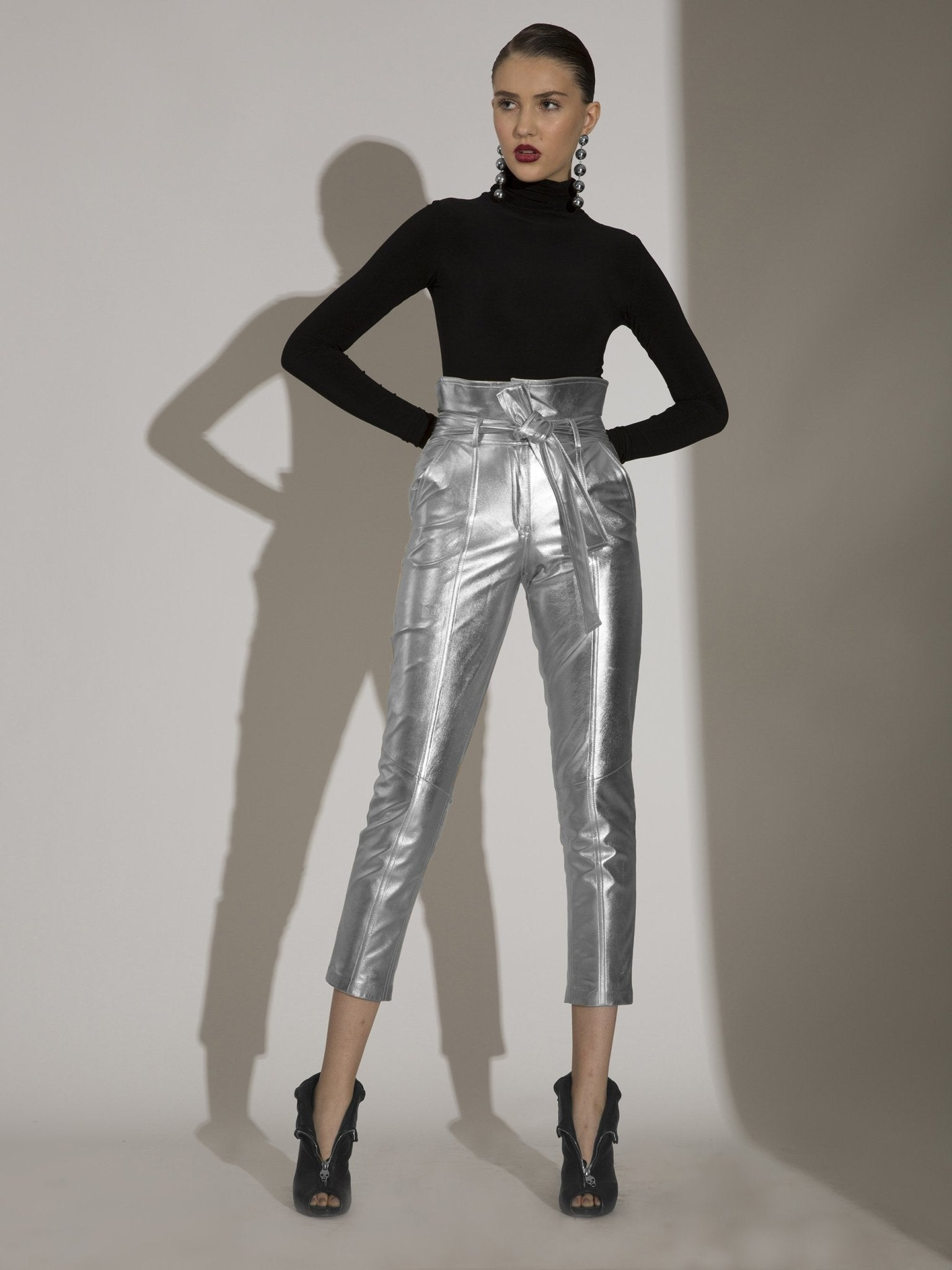 Leather High-Waisted Pants - The Clothing LoungePEARL AND RUBIES