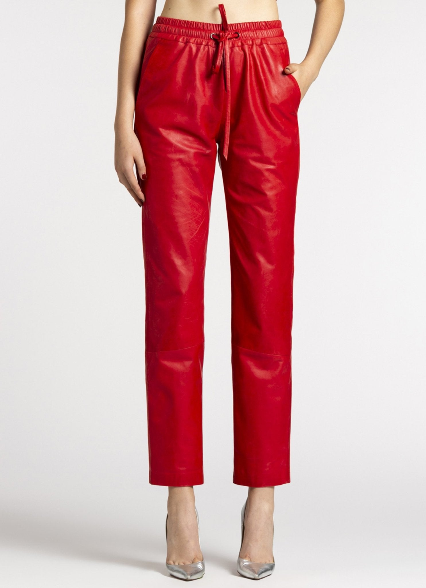 Leather Track Pants - The Clothing LoungePEARL AND RUBIES