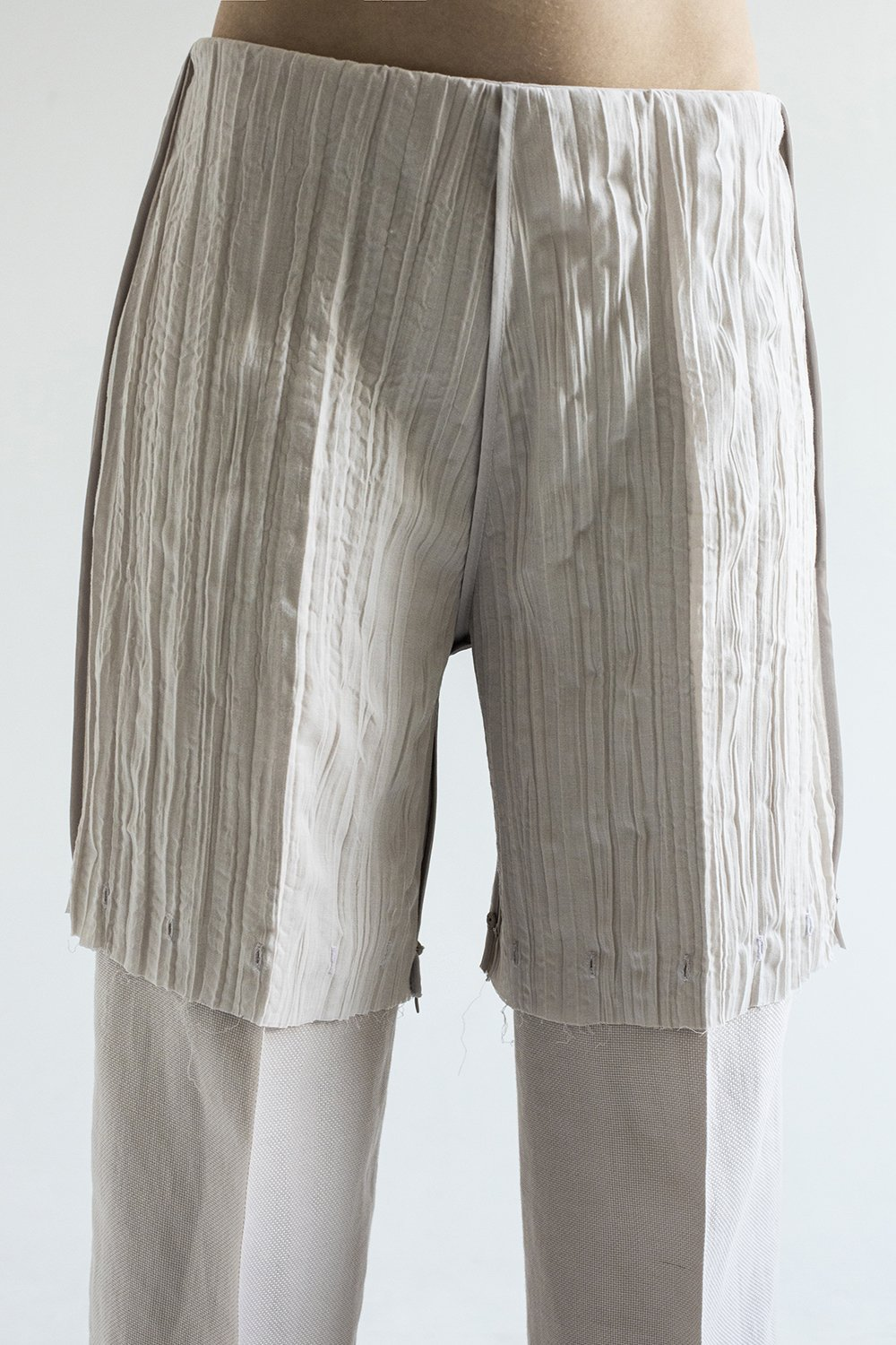 LINING 3-way Transforming Piece: Jumpsuit/Trousers in Cream - The Clothing LoungeDZHUS