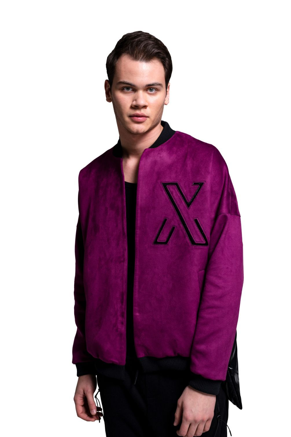 Lunar Purple College Jacket - The Clothing LoungeXUMU