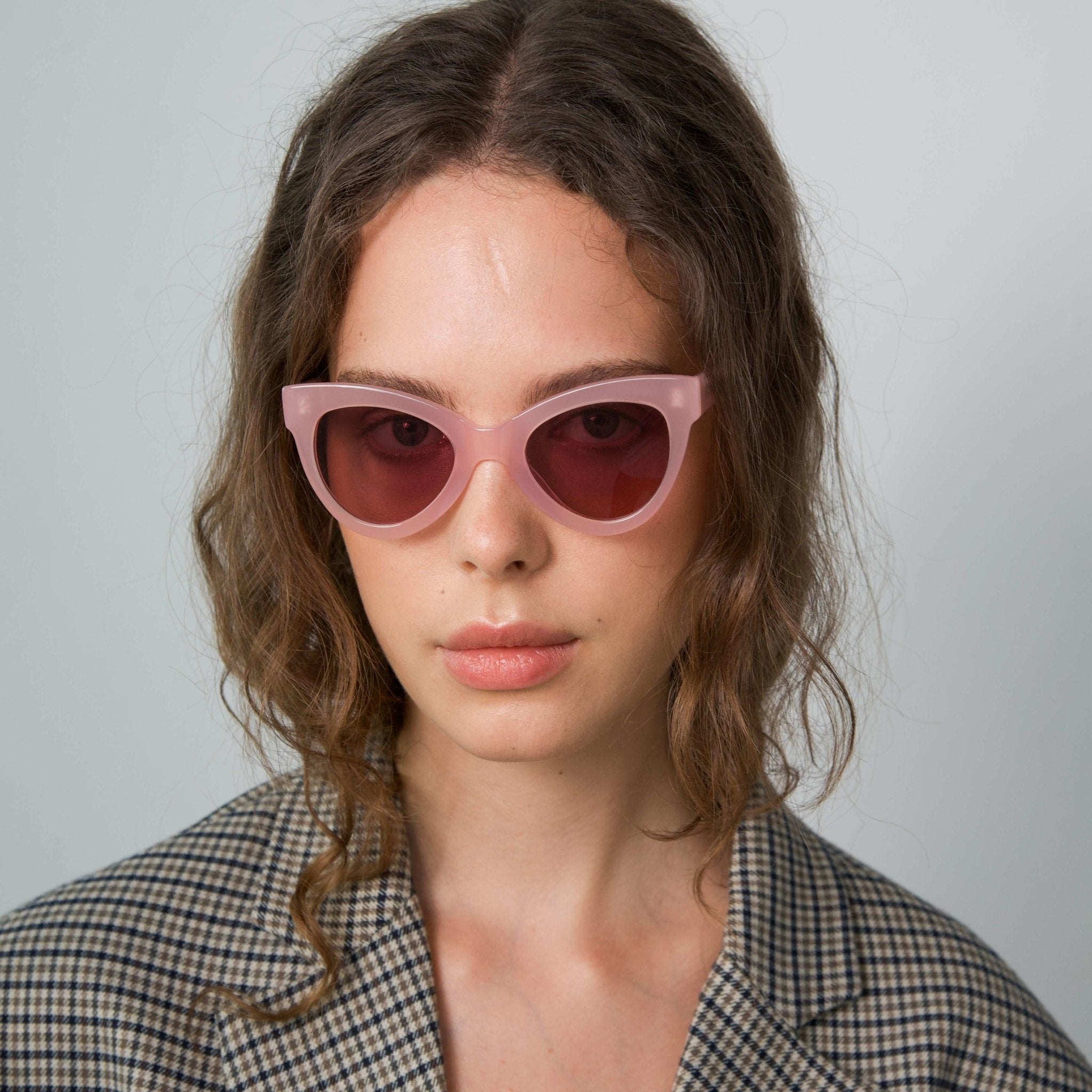 Magnetic Pink Frame + Pink Lens Sunglasses - The Clothing LoungeSUPERNORMAL
