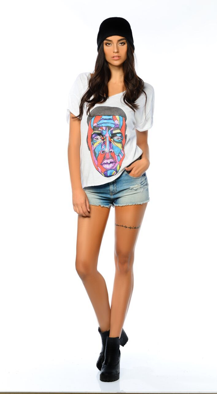 Maya Women's White Graphic T-Shirt - The Clothing LoungeDear Deer