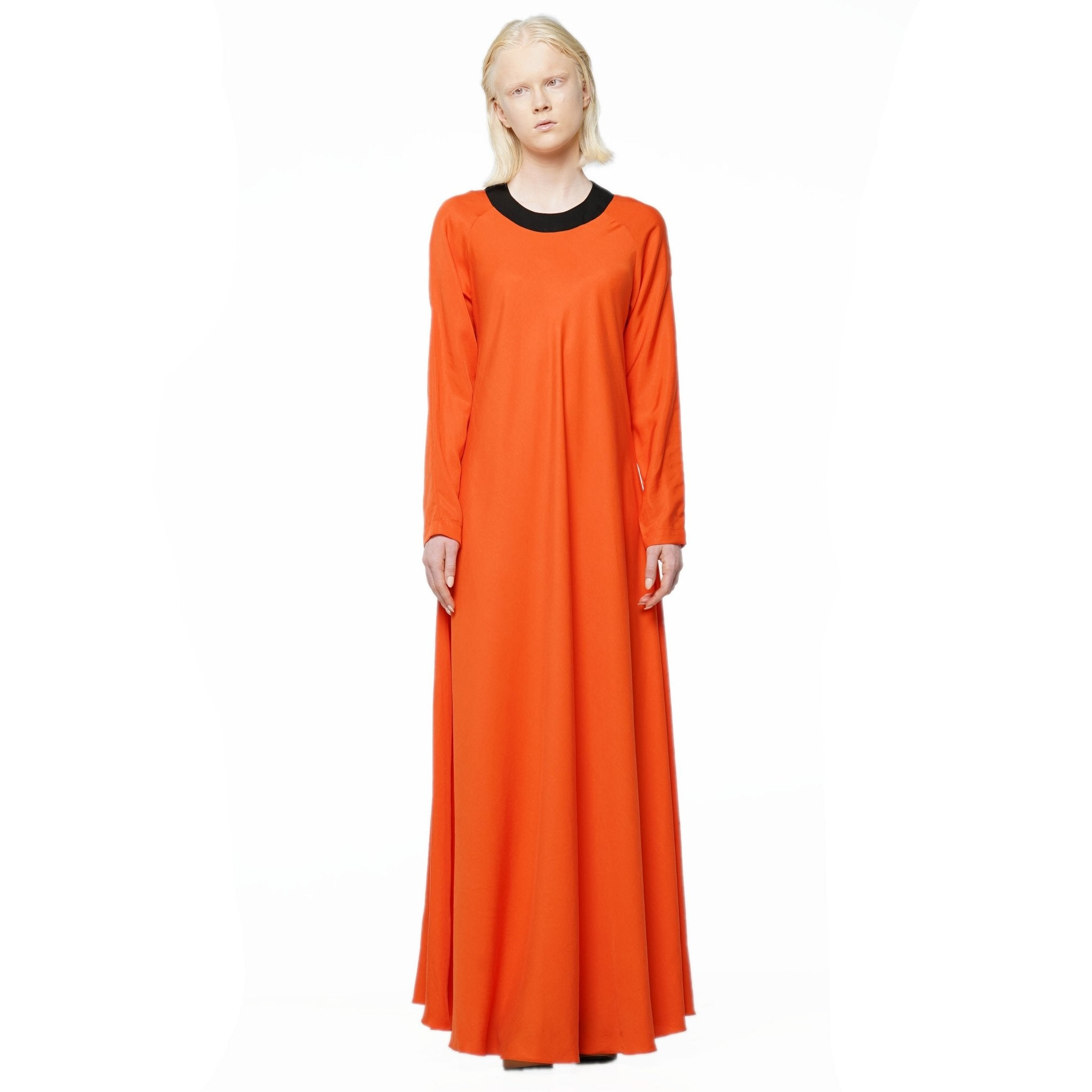 Orange tencel maxi dress - The Clothing LoungeKO by Kolotiy