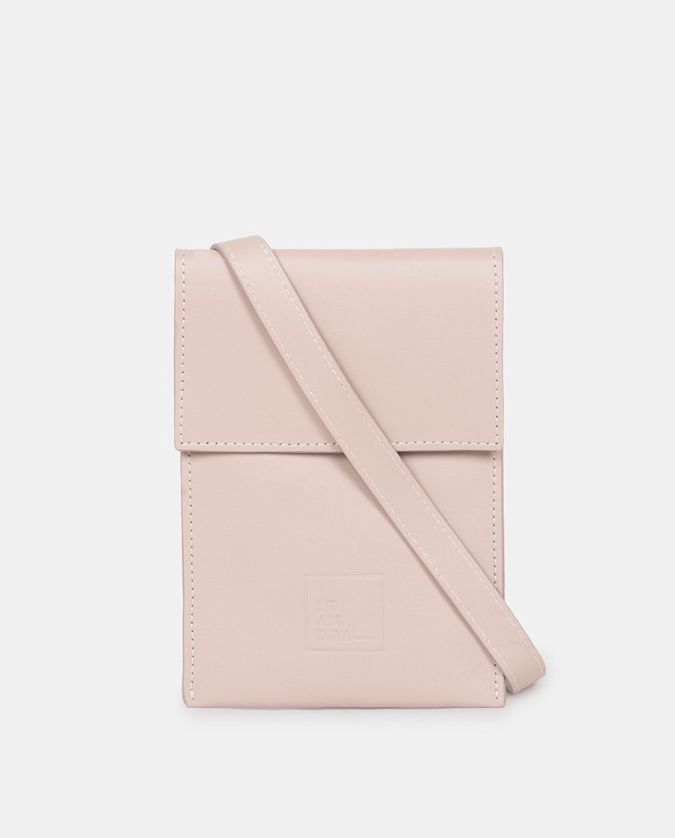 Pink Mini Leather Bag - The Clothing LoungeLEANDRA